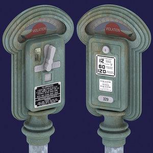 3d model 1940 duncan miller parking meter