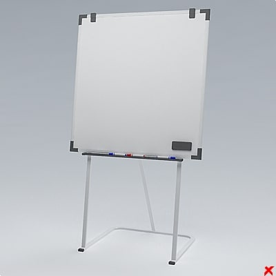 3d whiteboard board model