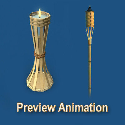 tiki torches 3d model