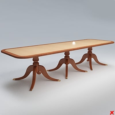 3ds max table dining