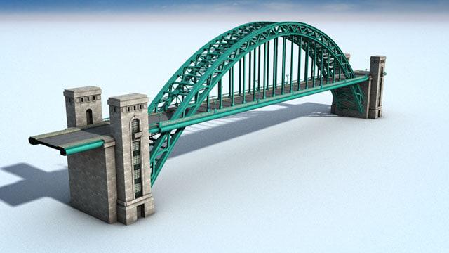 tyne bridge 3d model