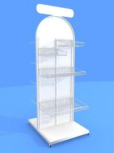 3d store display rack
