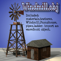 3d wind windmill model