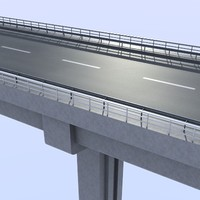 overpass road highway 3d model