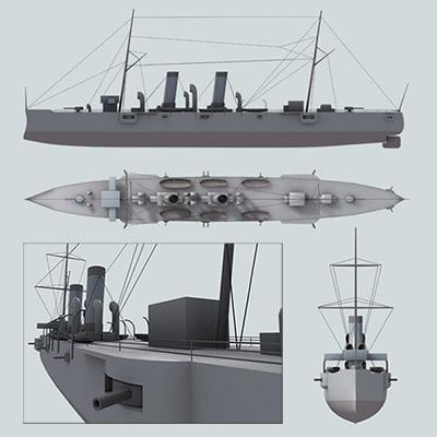 3d max battleship battle ship