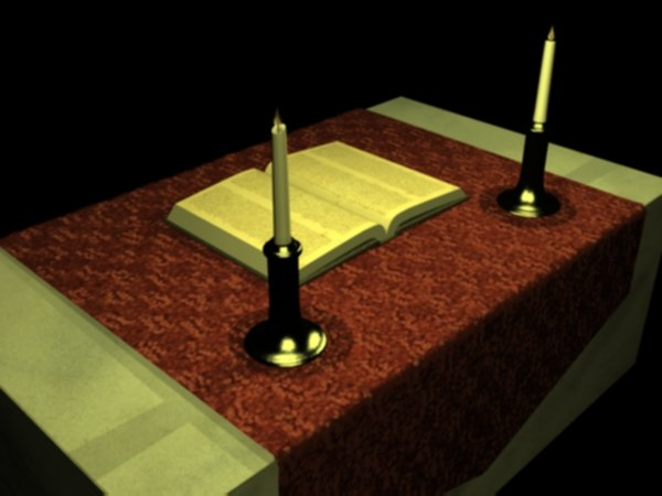 3ds max marble alter book cloth