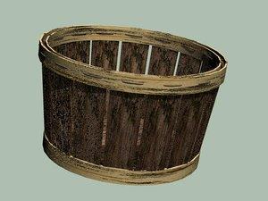 3d model bushel basket