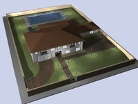 property house 3d max