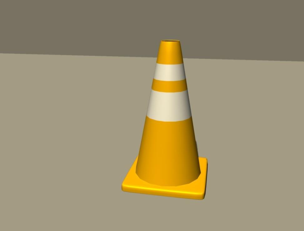 3d obj traffic cone
