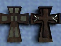 crucifix cross 3d model