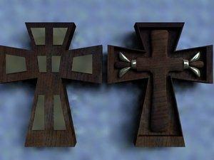 crucifix cross 3d model