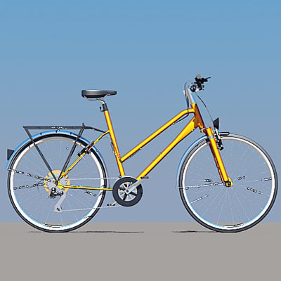 3d model of bike lady s