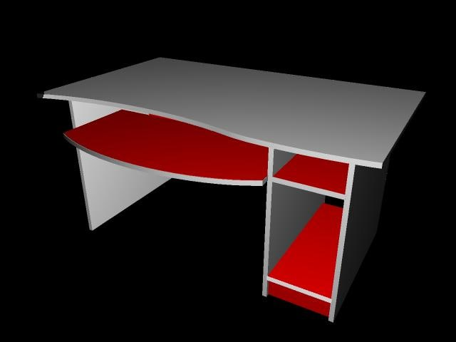 desk interior 3d ma