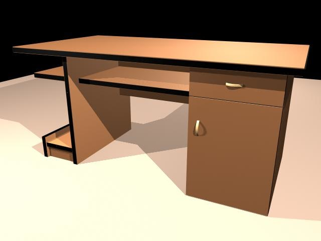 desk home office 3d ma