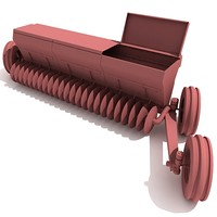 seeding machine 3d model