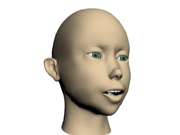 3ds max female head
