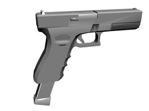 3d glock 18 pistol model