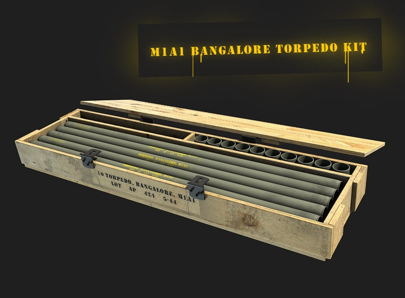 antipersonnel bangalore torpedo kit 3d model