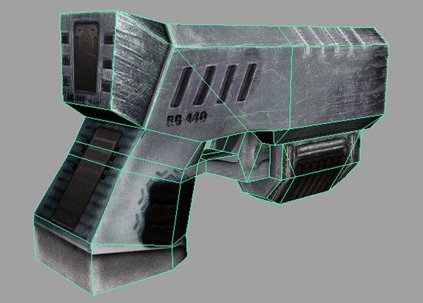 3d rail gun model