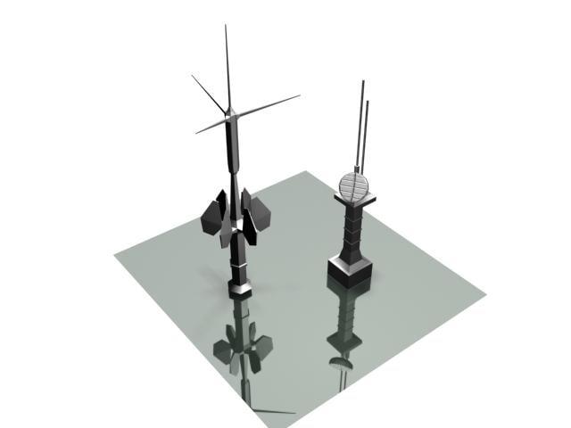 sf sensor towers 1 3d model