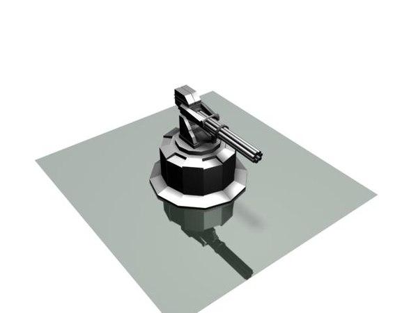 3d sf turret model