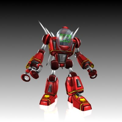 3d model robot suit