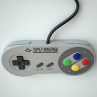 super controller snes 3d model