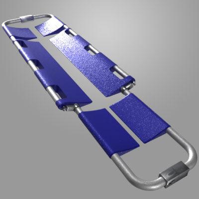 orthopedic scoop stretcher 3d model