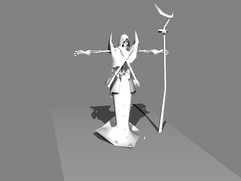 free obj model undead sorcerer