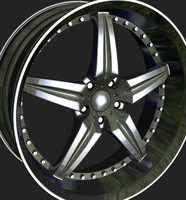 wheels rim obj
