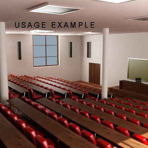 assembly hall 3d 3ds