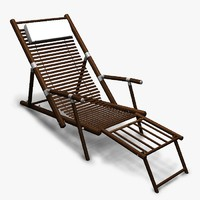 3ds max deck chair