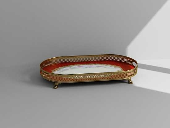 3ds max decorative tray