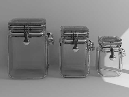 3d model glass canisters