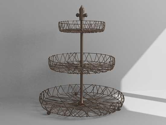 3d model of dessert tray