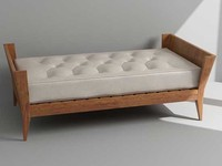 3d model bench daybed