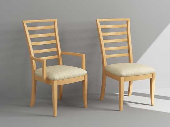 3d max dining chair