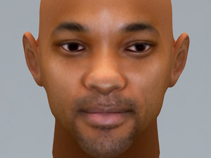 smith face uv 3d model