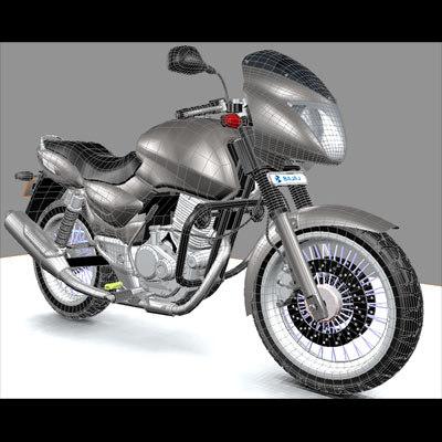 3d model bajaj pulsar motorcycle