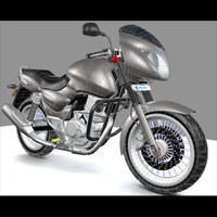 3d model bajaj pulsar motorcycle