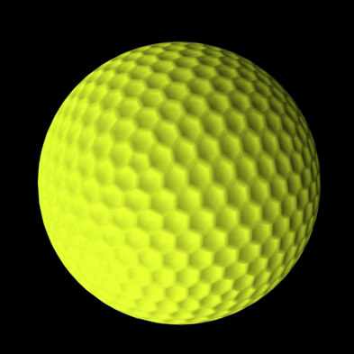 3d yellow golf ball