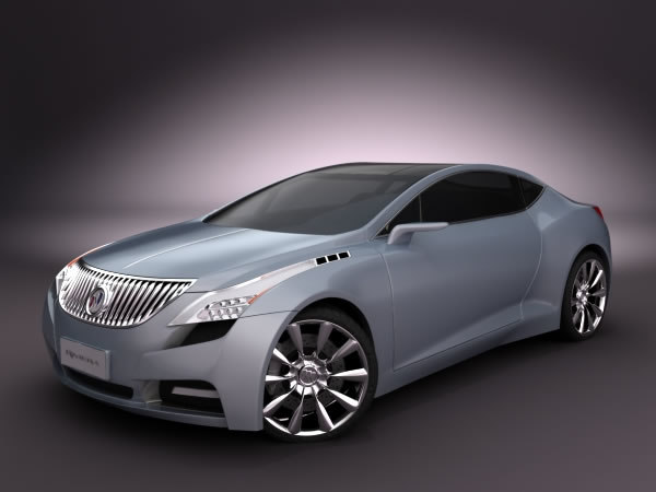 highpoly buick riviera concept 3d model