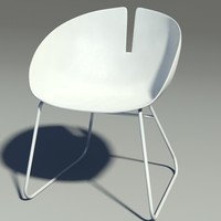 fjord armchair white 3d model