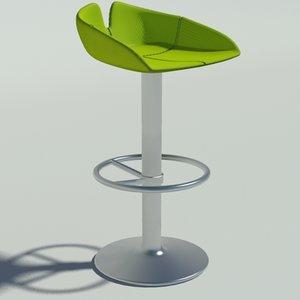 3d model fjord stool circle green