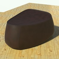 fjord pouf stone brown 3d model