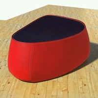 fjord medium pouf stone 3d 3ds