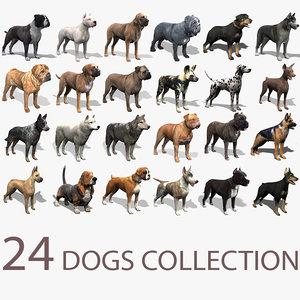 3d 24 dogs mastiff wolf