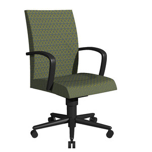 fabric office chair dxf