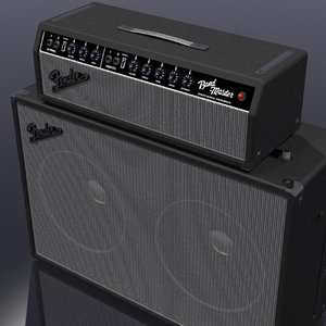 amp amplifier guitar 3d model
