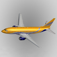 3ds max b737-300 europe airpost
